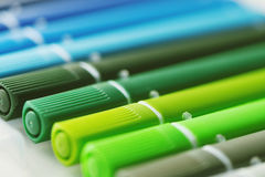 Colouring pens Stock Photo