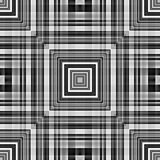 Colourless foursquare tile-able abstract pattern. Stock Photography