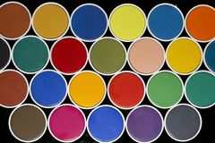 Colours. Different colours in palette with brush royalty free stock photos