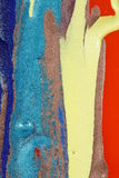 Colours abstract composition. Colourful abstract composition of paints on tiffany glass royalty free stock image