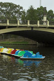 Colours Amongst Gloom. Paddleboats on the River Torrens royalty free stock photos