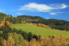 Colours of autumn in czech countryside Royalty Free Stock Photo