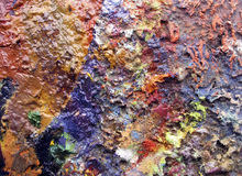 Colours backgrounds. Texture of oil on canvas stock photo