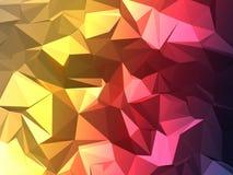 3 Colours Blakną Poli- Obraz Royalty Free