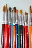 Colours and brushes Royalty Free Stock Images