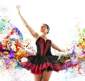 Colours classical dancer Royalty Free Stock Images