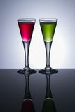 Colours drinks Royalty Free Stock Photo