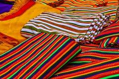 Colours of Ethiopia. Pieces of cloth in the market, Ethiopia Stock Photos