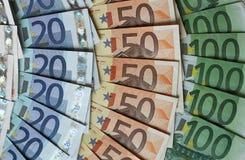Colours of euro money Royalty Free Stock Photo