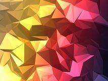 3 Colours Fade Poly Royalty Free Stock Image