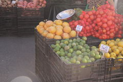 Colours of the farmers market Stock Photography