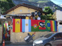 Colours at favela of the Vidigal, in Rio de Janeiro Stock Photography