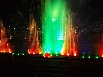 Colours of Fountain. Beautiful colours merging up with fountain Royalty Free Stock Image