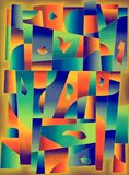 Colours geometric shapes, contemporary art. Colours geometric abstract background, digital art by Afonso Farias & Denilson Bedin vector illustration