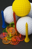 The colours of Golf III. The color of golf accessories Stock Photos