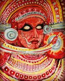 Colours of Kerala. Theyyam is a culture of Kerala. This picture depicts the colourful design of theyyam. This is found in northern part of Kerala,India Stock Photography