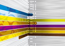 Colours lines. Abstraction with colour lines and a gradient background. It is perfectly possible to use in the form of a background in design work Stock Photography