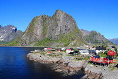 The colours of the little village of Hamnoey in Lofoten Royalty Free Stock Photo