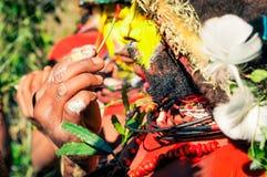 Colours na mężczyzna w Papua - nowa gwinea Zdjęcia Stock
