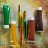 Colours of the nature - mix of green, yellow and brown - home or Royalty Free Stock Photography
