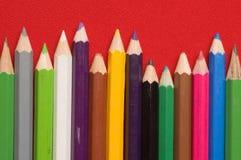 colours ołówki Zdjęcia Royalty Free