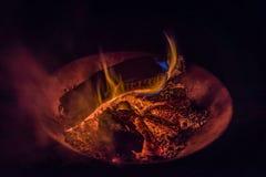 Colours ogień zdjęcia royalty free