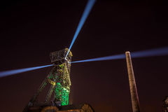 Colours of Ostrava fest night Royalty Free Stock Photo