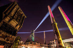 Colours of Ostrava fest night. Colours of Ostrava fest 2015, Czech Republic Royalty Free Stock Images