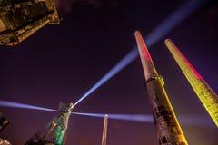 Colours of Ostrava fest night. Colours of Ostrava fest 2015, Czech Republic Stock Images