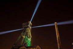 Colours of Ostrava fest night. Colours of Ostrava fest 2015, Czech Republic Stock Image