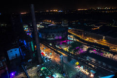 Colours of Ostrava fest night. Colours of Ostrava fest 2015, Czech Republic Stock Photos