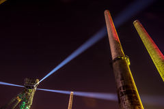Colours of Ostrava fest night Royalty Free Stock Images
