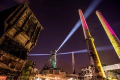 Colours Ostrava fest noc obrazy royalty free