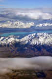 Colours of Otago, Aerial, New Zealand Royalty Free Stock Image