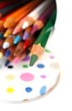 colours paletten Arkivbilder