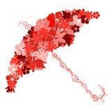 colours paraplyet vitt Royaltyfri Bild