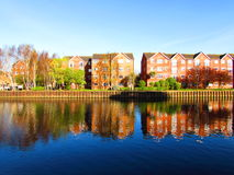 Colours of peace. A peaceful image on a Sunday afternoon on a canal in North London Stock Photo