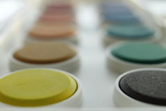 Colours. Picture made of water / aniline colours stock photo