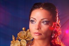 colours portret wschodniej kobiety Obrazy Stock