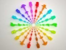 colours różnych ludzi Obraz Royalty Free