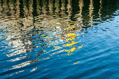 Colours reflecting in the sea Royalty Free Stock Images