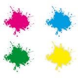 Colours splashes Royalty Free Stock Photo