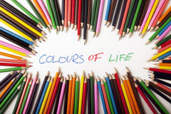 Colours and text Abstract! Royalty Free Stock Images