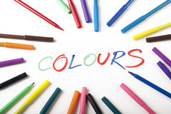 Colours and text Abstract! Stock Photos