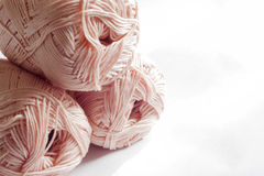 Colours of yarns in white background Royalty Free Stock Image