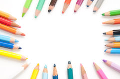 Colourful pencil frame Royalty Free Stock Photos