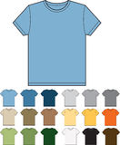 Colourways modernos do t-shirt Foto de Stock Royalty Free
