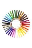 Colourwheel della matita Fotografia Stock