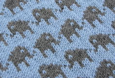 Colourwork échoué - tricotant Image stock