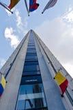 Colpatria Gebäude Bogota Kolumbien Stockbilder
